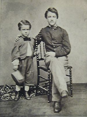 Young Solider & his brother Id'ed on back dated 1863 original cdv Photograph