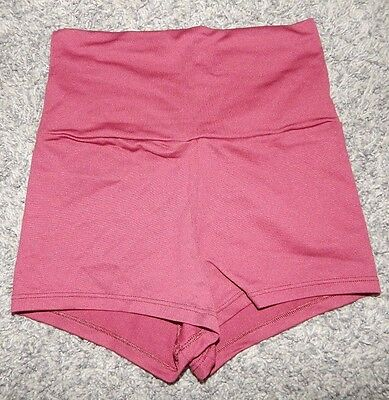 Adult Size Small--Body Wrappers Brand High Waisted Maroon Dance Shorts--Exc