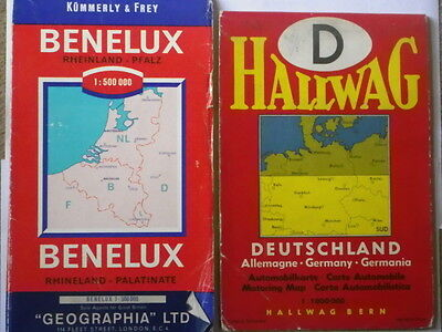 Two Vintage Maps of Germany and Benelux