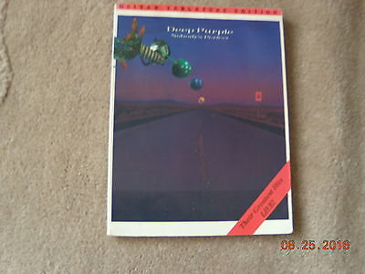 DEEP PURPLE--NOBODY'S PERFECT--13 Greatest Hits---120 pages- 1988