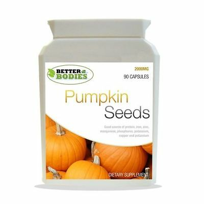 Pumpkin Seed Tablets 2000mg Male Health Supplement 90 Capsules