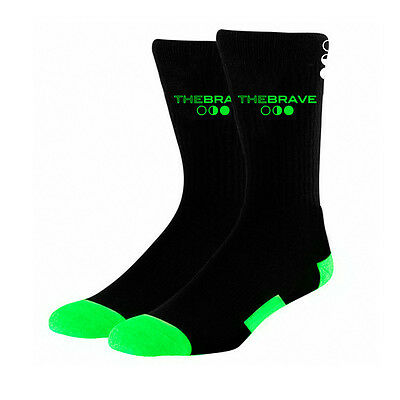 The Brave High Performance Sock - Crew - Black & Green The WOD Life Crossfit
