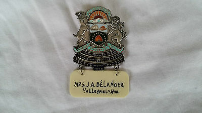 Canada Hamilton Ontario ON Federation Mayors Municipalities 1956 Insigne Badge