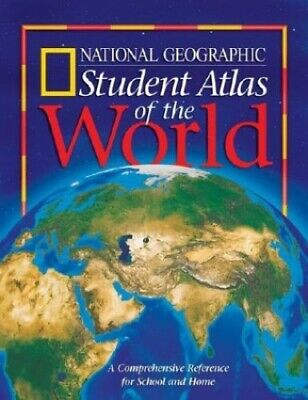 Student Atlas of the World, National Geographic Society Paperback Book The Cheap