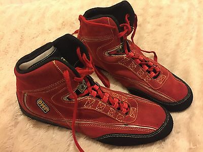 OMP Red Suede Race Boots Size 44