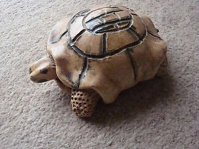 Chunky Ceramic Tortoise with Smooth Glaze and Lovely Detail