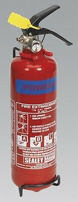 Sealey SDPE01 Fire Extinguisher 1Kg Dry Powder Safety Home Garage Office