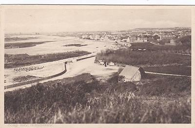 PC GUERNSEY COBO BAY AND HOUSES CHANNEL ISLANDS BY BANKS BROWNSEY c1920