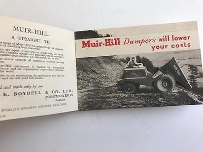 1950s Muir Hill Dumpers Promotion Brochure (with moving parts)