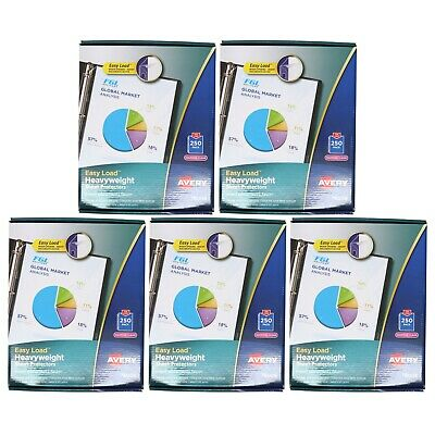 New Avery Sheet Protector Clear 76006 Acid Free 250 Pack Sealed Package 5 Pack
