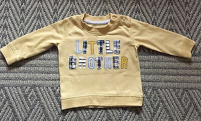 Baby Boy Little Brother Long Sleeve T-shirt Age 3-6 Months