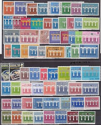 EUROPA - ANNEE 1984 COMPLETE - TIMBRES NEUFS SANS CHARNIERE - Luxe - Cote 221€