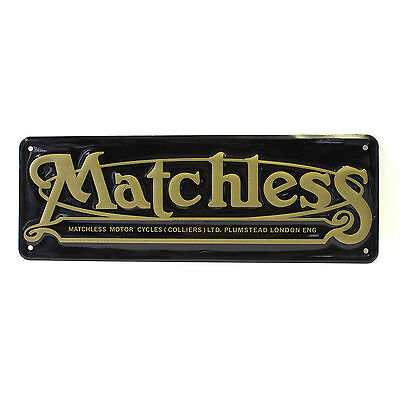 Matchless Street Sign - Tin - NEW Reproduction (19-50003)