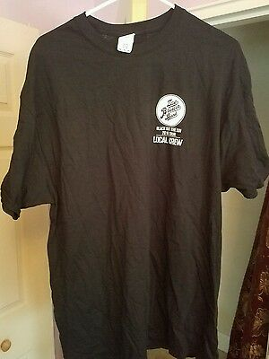Zac Brown Band  Local Crew Shirt Black Out The Sun 2016 Tour Black Xl