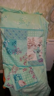 stuido home king size quilt cover and 2 pillow cases mint green/mix