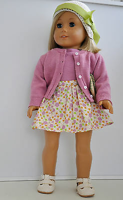 """Kit Kittredge American Girl Doll 18"""" with Meet Outfit and Book - Mint Condition!"""