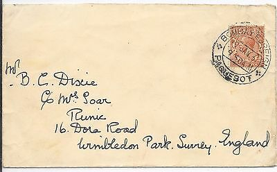 Gb/india Paquetbot Cover 19/1/3?;bombay Foreign / Paquetbot Cancel To Surrey.