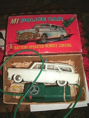 Vintage Marx Battery Operated Model Of An M1 Police Car