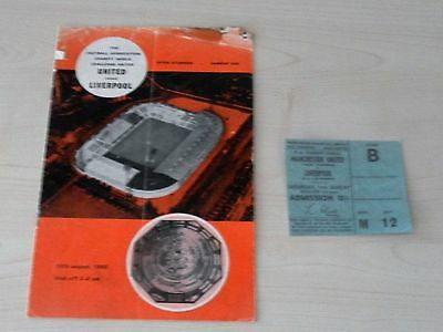 1965 Charity Shield Programme and reproduction ticket Manchester Utd v Liverpool