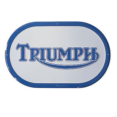 Triumph Motorcycle Blue Oval Sign (19-50009)