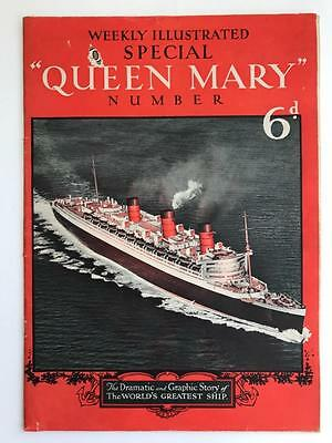 1930s Queen Mary ILLustrated Magazine 56pg (Shipping Interest)