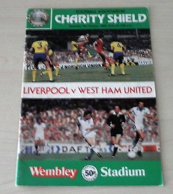 1980 Charity Shield Programme Liverpool v West Ham signed by David Johnson