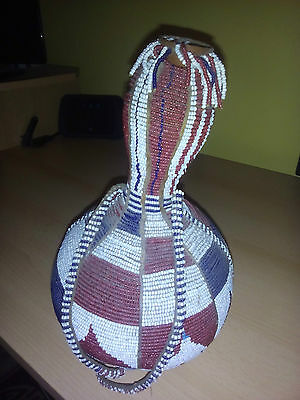 african gourd    [ beaded ]