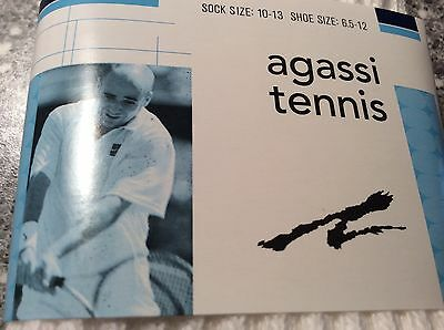 Andre Agassi Silver Addition Nike Dri-Fit Cushioned Tennis Socks VINTAGE, NEW