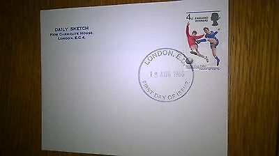 daily sketch 1966 england winners first day cover