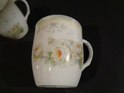2 Vintage Small China Cups Floral Marked Germany 248