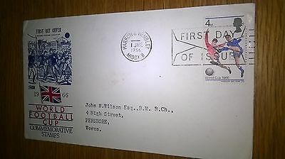 1966 first day cover not winners harrow and wembley postmark