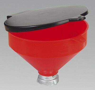 Sealey SOLV/SF Solvent Safety Funnel With Flip Top Hand Tool Garage Workshop
