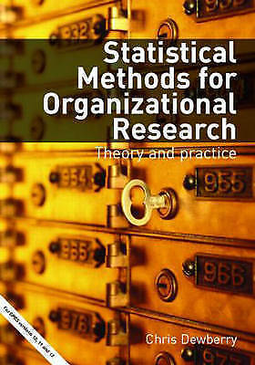 Statistical Methods for Organizational Research: Theory and Practice by Chris...