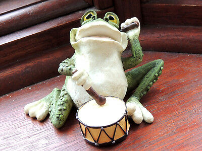 Delightful Frog ( Playing the Drums) Ornament  Boxed