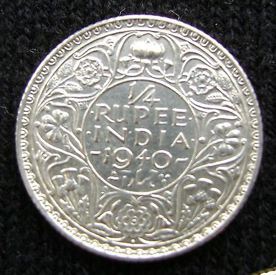 British India 1/4 Rupee, 1940 B Uncirculated Silver