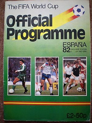 THE FIFA WORLD CUP 1982 OFFICIAL FOOTBALL PROGRAMME UK EIRE EDITION Espana Spain