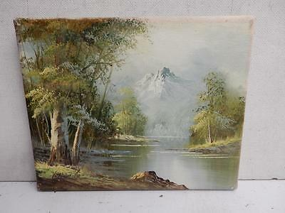 OLD painting oil on canvas landscape