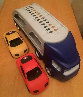 Little Tikes Car Transporter / Carrier complete with two Cars