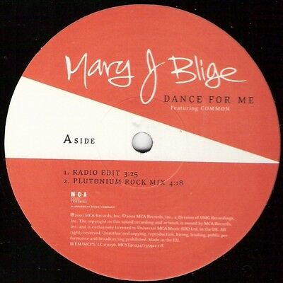 Mary J. Blige Dance For Me Vinyl Single 12inch NEAR MINT Universal