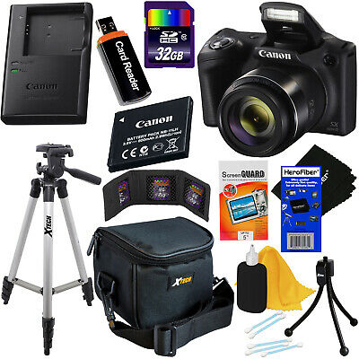 Canon Powershot SX420 IS 20MP 42x Zoom Digital Camera,Black + 11pc 32GB Acc Kit