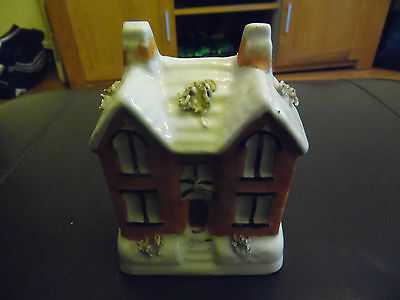 Vintage Staffordshire Moneybox In The Form Of A House