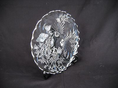Antique Silver Color Overlay- Cake / Serving Plate