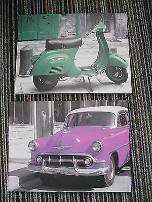 2 boys cars canvas pictures