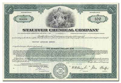 Stauffer Chemical Company Bond Certificate