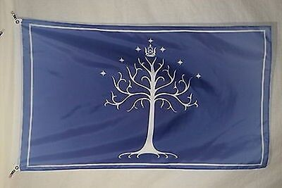 Lord of Rings King Aragorn Fellowship of the Ring J. R. R. Tolkien Flag 3x5
