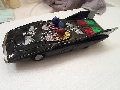 Vintage Batmobile Alps Tin Battery Operated Works Nice Look