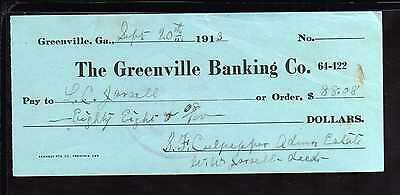 1913 The Greenville Banking Co. - Greenville, Georgia