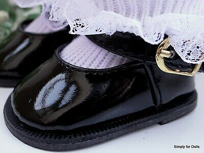 """BLACK Patent Leather Mary Jane DOLL DRESS SHOES fit 18"""" AMERICAN GIRL DOLL"""