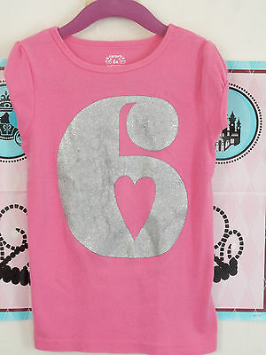 Carter's/short Sleeve Tee Top/pink/size 6X/very Good Used Condition