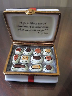 Very Rare Limoges Artoria*Box Of Chocolates*Created For Forrest Gump Movie